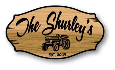 Our Classic Personalized Carved Wood Sign with Large Plaque Appeal