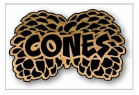 RUSTIC SIGN PINE CONE STYLE