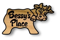 CUSTOM WOOD SIGN CRITTER COW