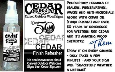 CEDAR TREATMENT & FINISH REFRESHER