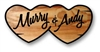 CARVED DOUBLE HEARTS WELCOME SIGNS
