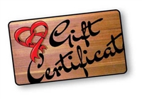 Carved Wood Sign Gift Certificate image