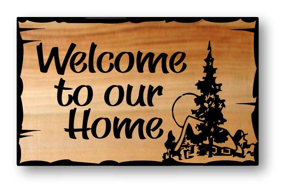 fe8e20842624 Engraved Cedar Welcome Signs Hand-Crafted & Personalized in the ...