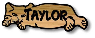 CUSTOM WOODEN SIGN FAMILY LEGACY - CAT