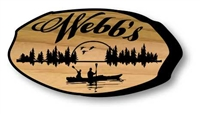 CUSTOM CARVED LOG SLICE SIGN - #2 of 4 STYLES