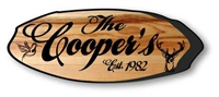 ENGRAVED WOODEN SIGNS LOG SLICE #3