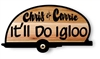 RUSTIC, HAND CARVED WOOD CAMPING TRAILER SIGN