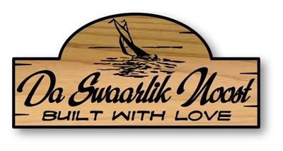 CARVED WOODEN FAMILY NAME SIGN - SILHOUETTE ADDRESS