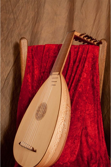 NEW ROOSEBECK DESCANT 7-COURSE LACEWOOD LUTE