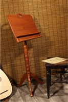 Roosebeck Colonial Red Cedar Music Stand, Double Shelf