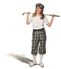 Ladies Golf Knicker Outfit -  Black Check