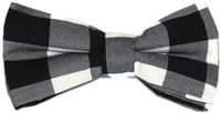 Men's Black Plaid Bow Tie