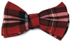 Men's Red Plaid Bow Tie