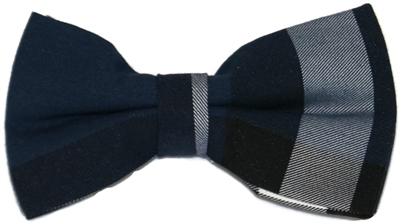 Men's Navy Plaid Bow Tie