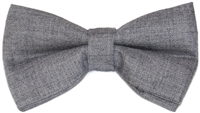 Men's Grey Silk Bow Tie