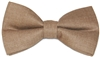 Men's Camel Silk Touch Bow Tie