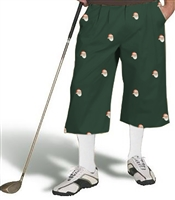 Embroidered Green Golf Knickers with Santa