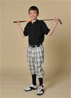 Children's Royal Troon Check Golf Knickers