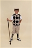 Children's Golf Knicker outfit | Khaki Black Red