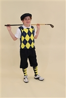 Children's Golf Outfit - Navy Yellow White Overstitch