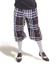 Black Plaid Golf Knickers for Men