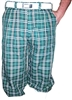 Green Plaid Golf Knickers for Men