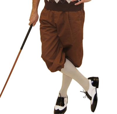 Brown Golf Knickers for Men