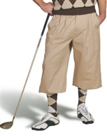 Khaki Golf Knickers for Men