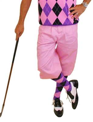 Pink Golf Knickers for Men