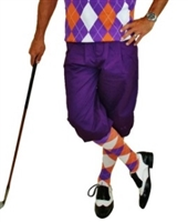 Purple Golf Knickers for Men
