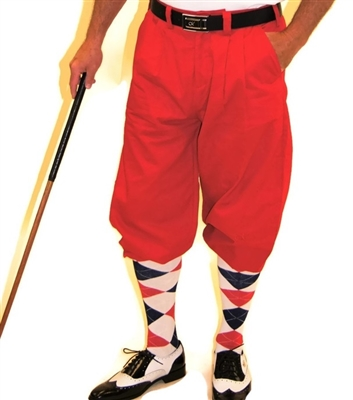 Red Golf Knickers for Men