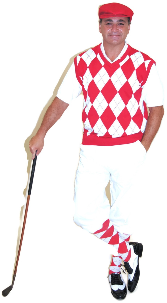 4b657b8e0e8887 White Knicker Golf Knicker Outfit with Red