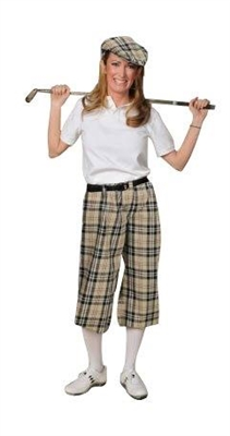 Khaki Plaid Ladies Golf Outfit | Knickers | Kings Cross Clothing