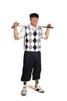 Men's Golf Outfit - Navy/White/Light Grey/White Overstitch