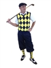 Men's Golf Outfit - Navy/Yellow/White Overstitch