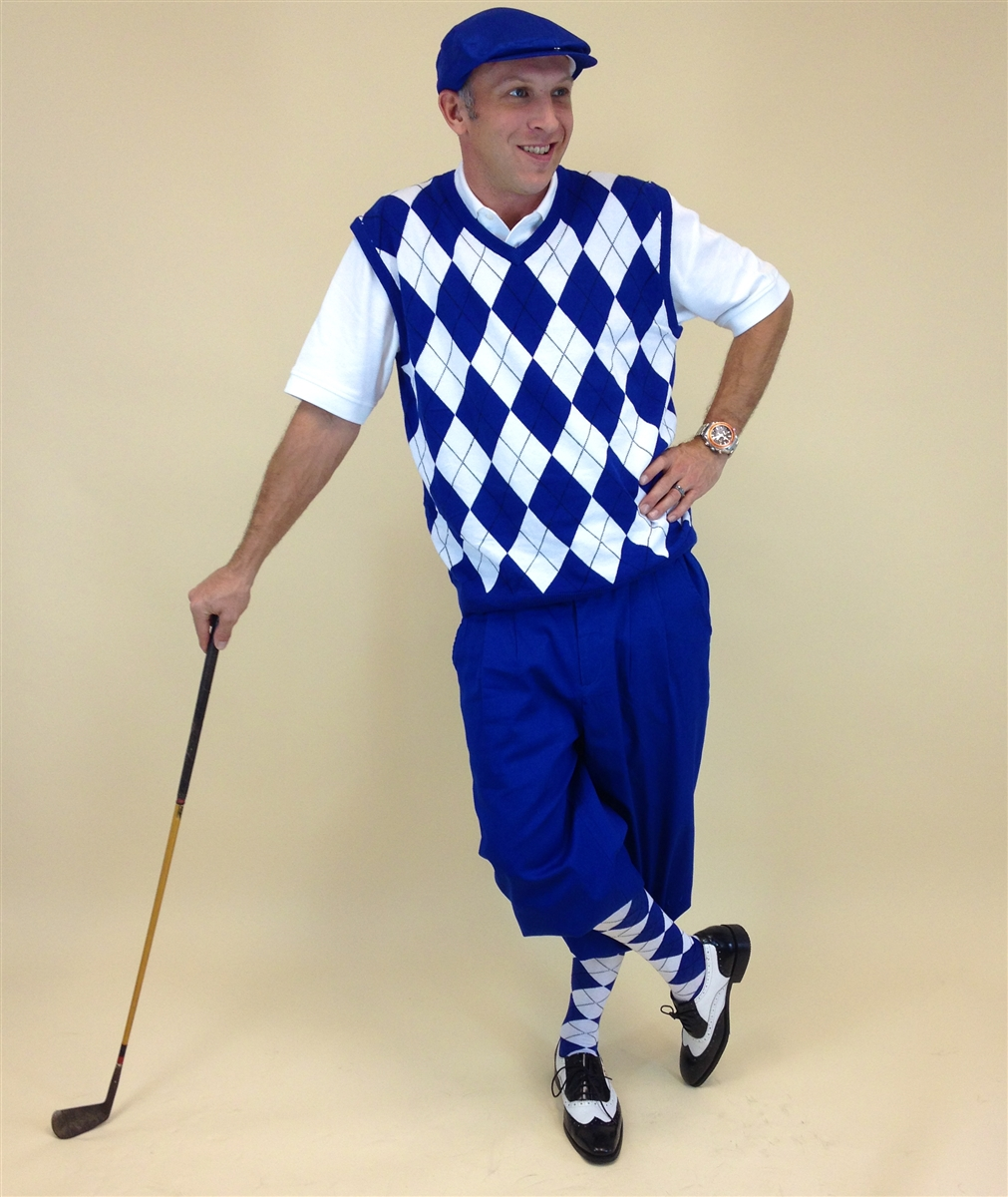 Royal Blue Golf Knickers Outfit