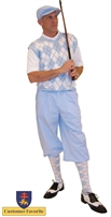 Carolina Blue Knickers and Cap with Argyle Sweater and Socks