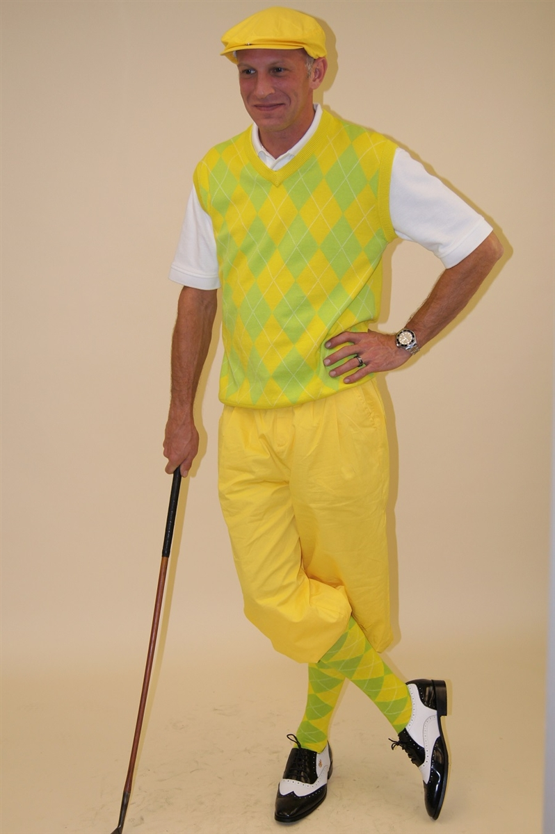 Men s Golf Knickers Outfit-Yellow Golf Knickers dc0d3bba09b