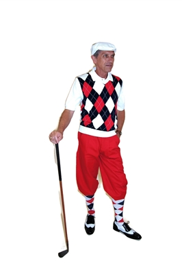Red White and Blue Golf Knickers outfit with Red Golf Knickers