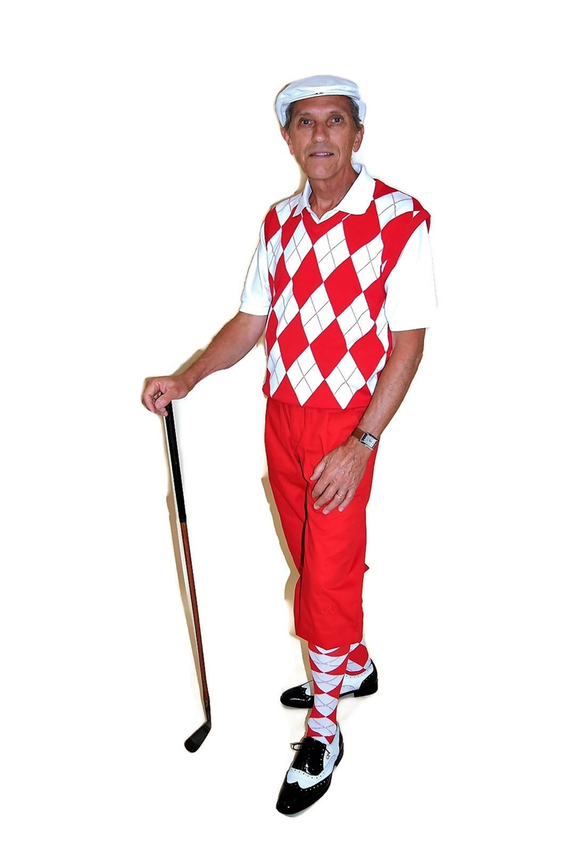 19657bc14 Red and White Complete Golf Knickers Outfit by Kings Cross