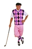 Pink Knickers with pink black purple argyle sweater and sock