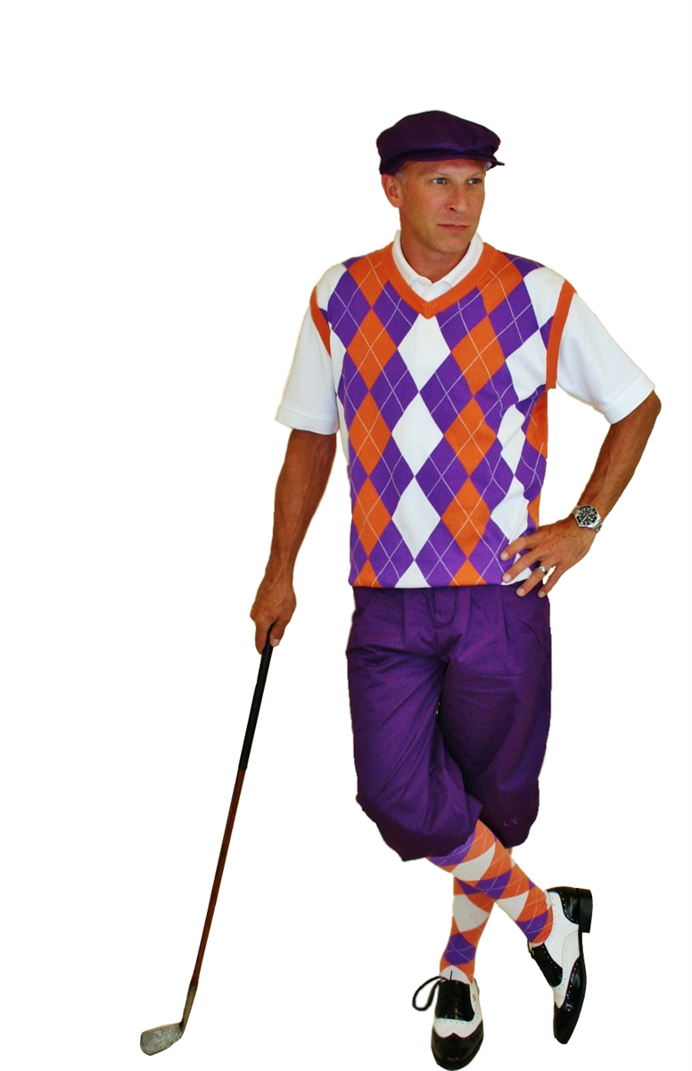 Men s Golf Outfit - Purple Knickers with Sweater 955e34c7517c