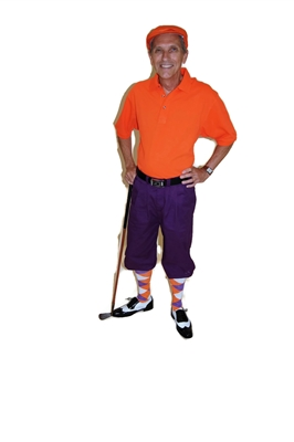 Purple Golf Knickers with Orange Starter Outfit by Kings Cross