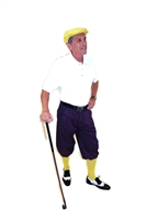 Purple Golf Knickers Starter Outfit - Purple Knickers Yellow Cap and Socks White Polo