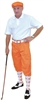 Men's Knicker Outfit-Orange White Polo