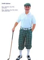 Green Plaid Golf Knickers Outfit