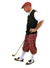 Men's Golf Outfit - Red Turnberry Plaid w/Optional Black Sweater