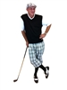 Men's Golf Outfit - White/Black/Pink/Light Blue Overstitch w/Black Knickers