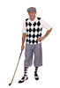 Men's Golf Outfit-Grey Silk Touch With Black and White Argyle