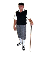 Kings Cross Grey Plaid Golf Knickers Outfit with Black Vest